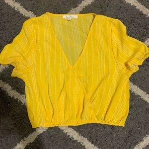 Cropped yellow top
